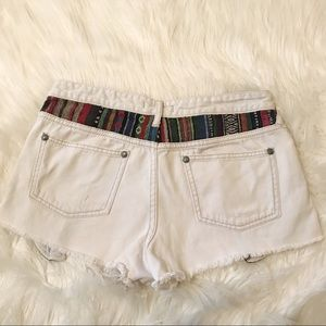 Free People Shorts - Free People Baja Jean Shorts 30 EUC Blanket Pocket